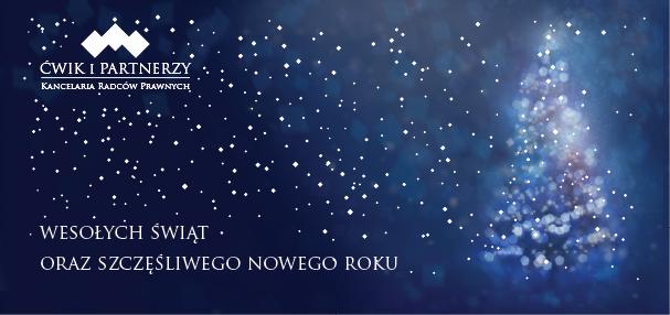 Zdrowych, Wesołych Świąt Bożego Narodzenia oraz Szczęśliwego nowego 2020 roku!